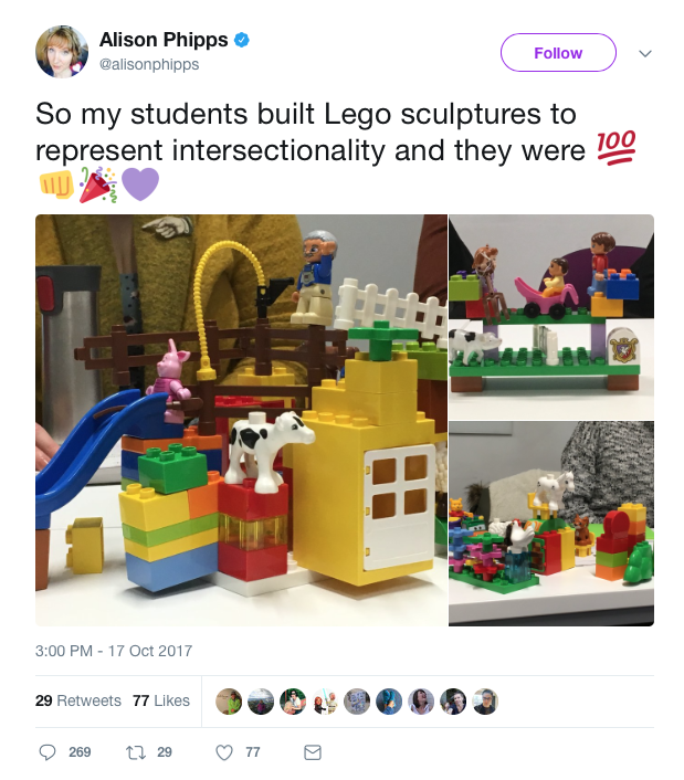 My students built Lego sculptures said the queer feminist Sussex ...